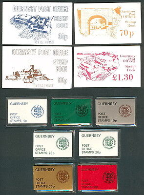 GREAT BRITAIN GUERNSEY BOOKLETS - 22 different
