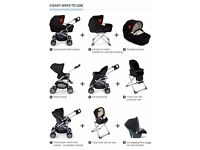 Mamas & Papas MPX Travel System + Primo Vito Car Seat + Isofix Base - Used in good condition