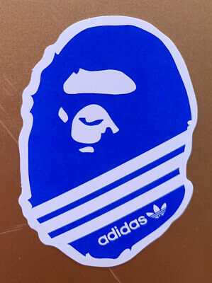 "A Bathing Ape Bape 3"" Vinyl STICKER Skateboard Car Bumper Supreme Adidas New"