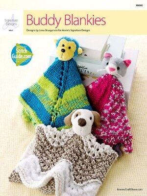 Knit Pattern Leaflet BUDDY BLANKIES  Knitting Blankets   Dog, Cat & Monkey
