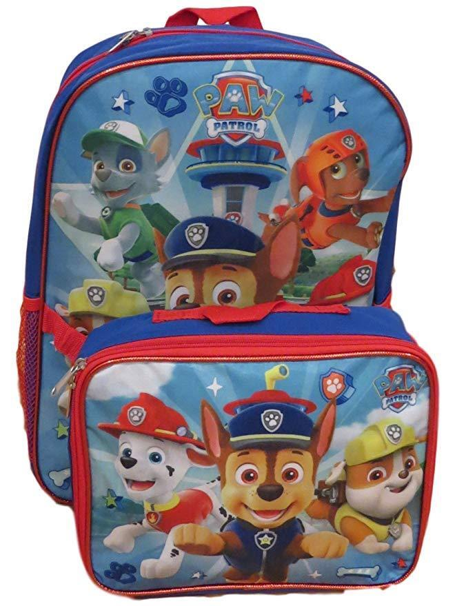"Paw Patrol Boy's 16"" Backpack With  Lunch Box Combo Set"
