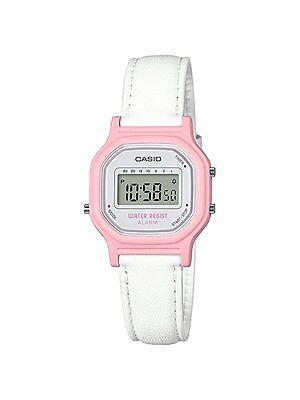 Casio Women's Classic Digital White Leather Band Casual Watch, LA-11WL-4ACF