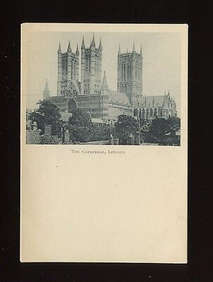 Lincolnshire Lincs LINCOLN The cathedral Unposted early Court pre1900? PPC
