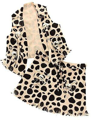 M&F Girl's Child's West Cowgirl Outfit Vest Skirt Set 5083462 HALLOWEEN COSTUME