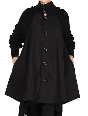 2020 Women's Winter Wool Button Down Coat Coats Jacket A-line Swing Overcoat