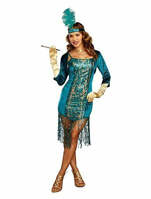 Halloween Costumes 1920's Flapper (Dreamgirl High Society Flapper 1920's Adult Womens Halloween Costume)