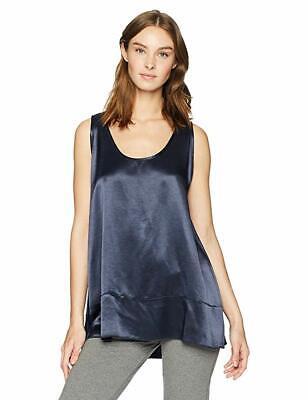 PJ Harlow Natalie Satin And Rib Knit Top With A-Line Shape - Lined Satin Pajamas