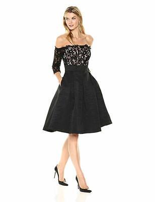 Eliza J Off The Shoulder Fit & Flare Cocktail Dress Sz 14 (Off The Shoulder Fit And Flare Cocktail Dress)
