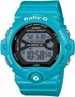 NEW BG-6903-2D Blue Casio Women's Baby-G Watch Resin Band Mineral Glass Digital