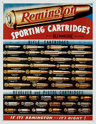 Remington Sporting Cartridges Tin Sign - 12.5x16