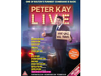 2 x Peter Kay Tickets in Sheffield - 2nd Row Floor Seats (Very Close To Stage)