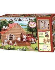 Sylvanian Families log cabin gift set.