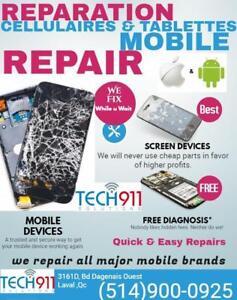 Cellulaires;Tablettes;Ordinateurs (Hard&Soft) ,SERVICE RAPIDE Pro:Reparation;Deblocage (SIM&FRP)Vente, Laval & Env