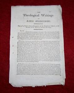 RARE-1805-Pamphlet-THEOLOGICAL-WRITINGS-Of-BARON-SWEDENBORG-Copy-Of-A-LETTER