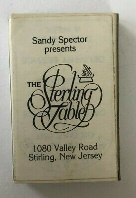 Vintage Unstruck Matches – The Sterling Table, Sterling, New Jersey