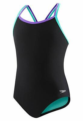 - Speedo Girls Criss Cross One Piece Swimsuit, Multi, Size 7