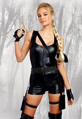 Dreamgirl Mächtiges Jäger Laura Croft Tomb Raider Damen Halloween Kostüm 10657