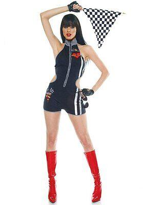 Turbo Minx Speed Car Race Women's Adult Sexy Love Romper Halloween Costume S/M](Car Halloween Costumes)