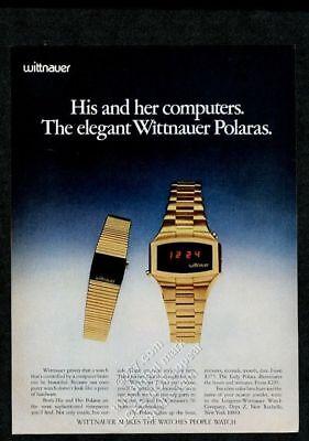 1975 Longines Wittnauer Polara LED digital watch photo vintage print ad