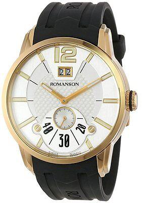 Romanson Men's TL9213MM1GAS1G Modern Swiss Quartz Big Date Luminous Hands