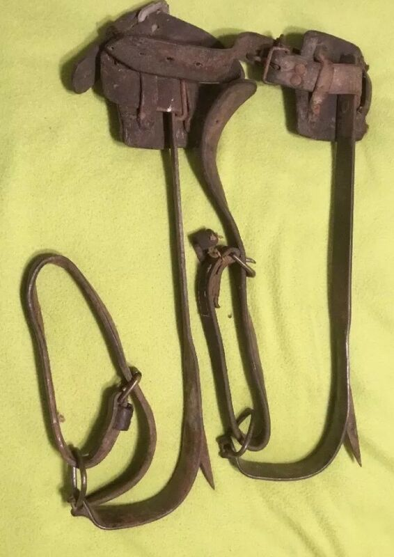 Vintage ~  1939 Telephone Pole ~ Climbing Spikes ~ M Klein & Sons ~