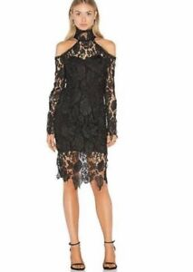 Asilio Black lace dress BNWT $100 RRP $479 size 12