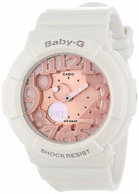 Casio BABY-G SHOCK BGA131-7B2 White & Pink 3D Dial Analog-Digital Ladies Watch