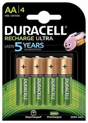 Duracell Rechargeable Ultra AA x 4 - 2500 mAh/1.2V - LR06-HR6/DX1500.