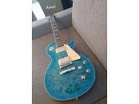Gibson USA Les Paul Standard Premium Quilt electric guitar (Ocean Water Perimeter Candy)