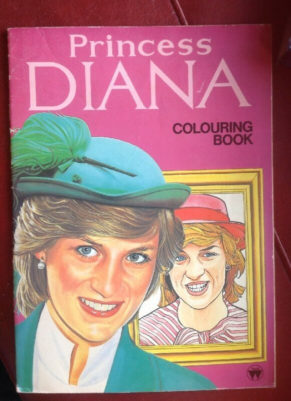 Princess Diana Coloring Book Softcover Rare