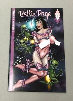 BETTIE PAGE 1 JETPACK COMICS JIM BALENT SIGNED EXCL VARIANT Dynamite Betty Page for sale  Rochester