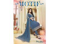 PRAFFUL MOTIF WHOLESALE STRAIGHT LONG DRESSES