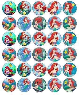 Little Mermaid Ariel Disney Cupcake Toppers Edible Wafer BUY 2 GET 3RD FREE!