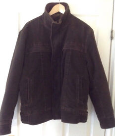 MEN'S NEXT BROWN FAUX SUEDE GOOD QUALITY JACKET SIZE UK S/M