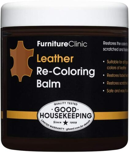 Furniture Clinic Leather Recoloring Balm (8.5 fl oz) - Leather Color Restorer fo