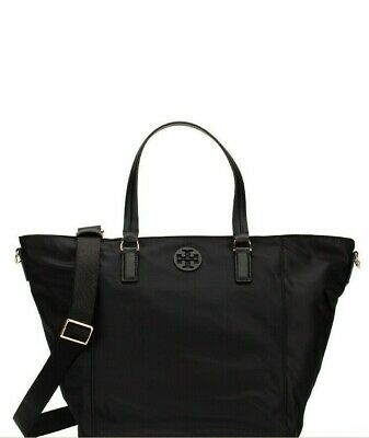 Tory Burch Tilda Small Nylon Top Zip Convertible Tote Bag Messenger Shoulder Bag