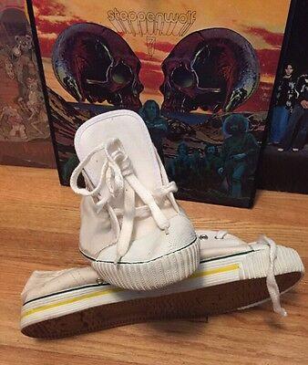 Rare Vintage Bata Mens Canvas Basketball Gym Fashion Sneakers Shoes Size 11