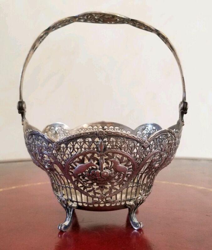 Antique 800 German Silver Basket