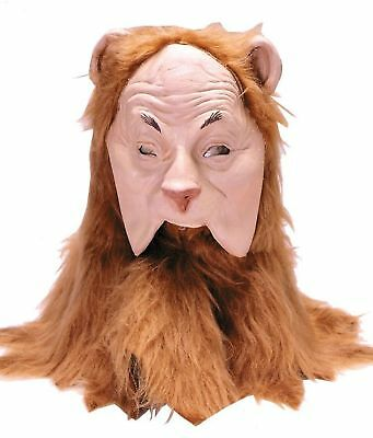Wizard Of Oz Halloween Props (HALLOWEEN ADULT  WIZARD OF OZ COWARDLY LION MASK)