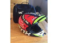 Fox V4 Carbon Fibre helmet size Medium.