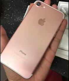 iPhone 7, rose gold, mint condition, unlocked