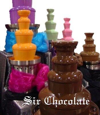 Custom Chocolate - Custom Colored Chocolate Fountain Fondue