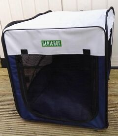 """Heritage folding fabric pet crate complete with carry bag - Length 30"""" Width 20"""" Height 20"""""""