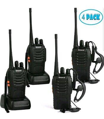 Greaval Rechargeable Walkie Talkies 4 Pack Long Range 2 Way Radio Handheld