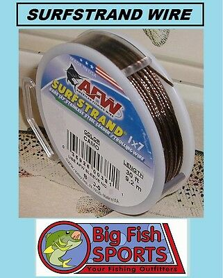 AFW SURFSTRAND Stainless Steel Leader Wire 90lb Test 30' #B090-0 FREE USA SHIP!
