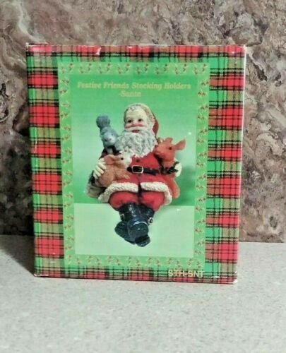 Festive Friends Stocking Holder Santa
