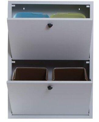 Mobile armadio raccolta differenziata a 4 secchi in metallo per UFFICIO