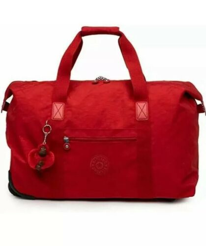 Kipling Art Wheeled Luggage Carry On Top Zip Cherry New With