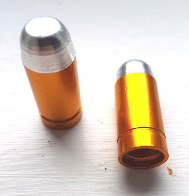 **UK SELLER  ** 2 X GOLDEN BULLET DUST CAPS - CAR/BMX/MTB