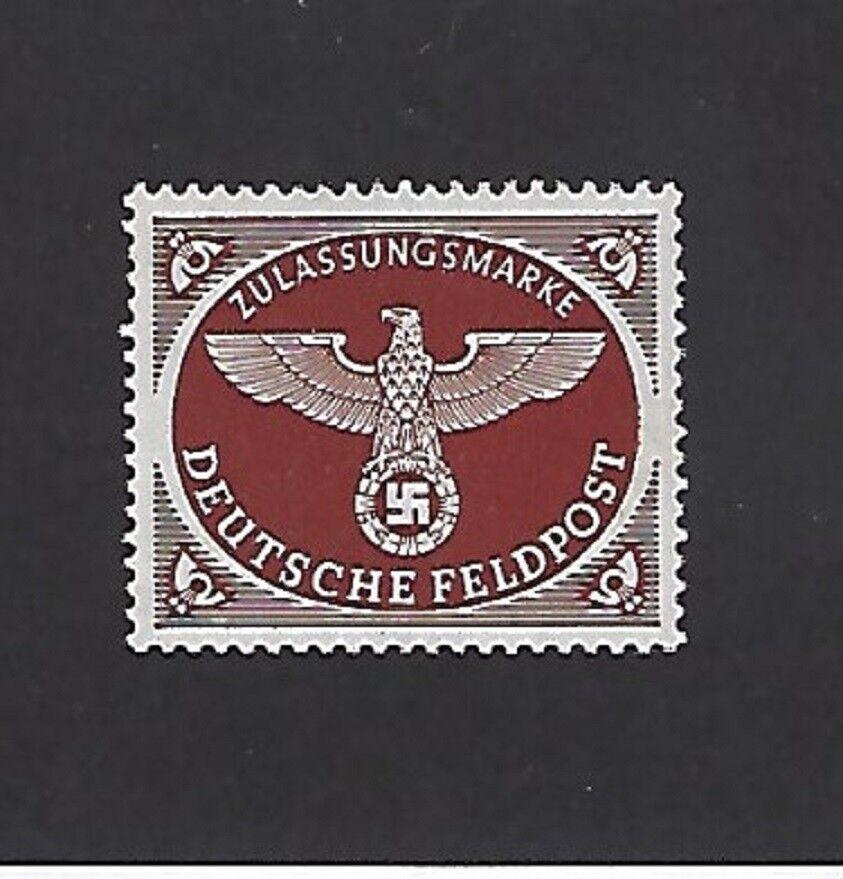 MNH stamp / Nazi Swastika / Military Postage / Feldpost / 1942 / Third Reich